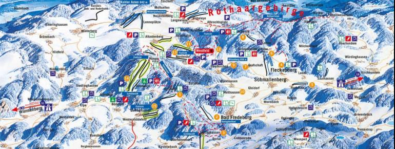 Pistenplan Nordenau Schmallenberg