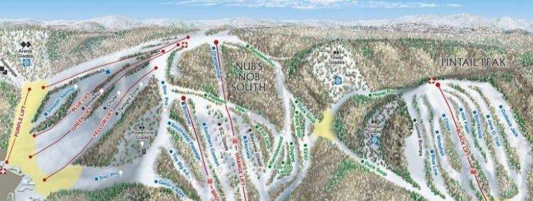 Pistenplan Nubs Nob Ski Area