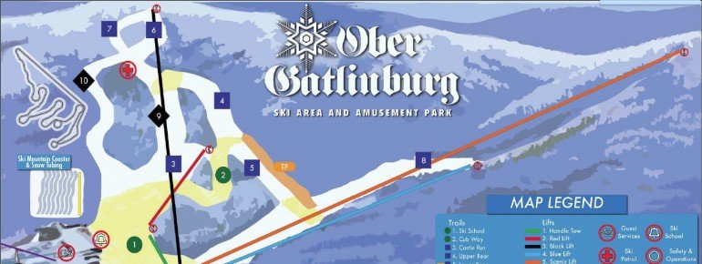 Pistenplan Ober Gatlinburg Ski Resort