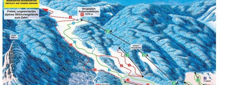 Pistenplan Oberammergau Kolben