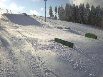 Der Snowpark befindet sich an der Mittelstation und sorgt für jede Menge Action