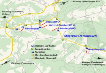 Überblick Skilifte Oberkirnach