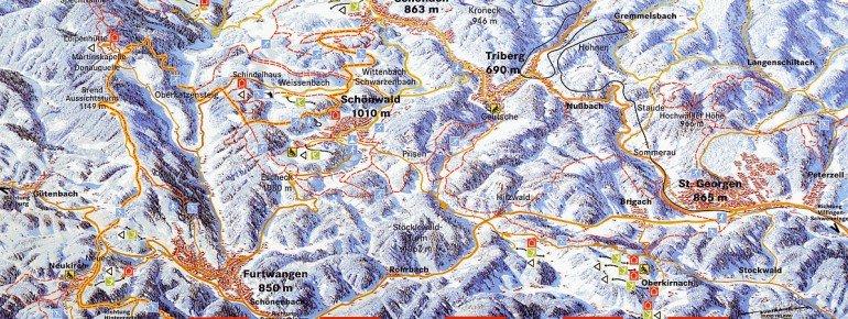 Pistenplan Schlossberg Oberkirnach