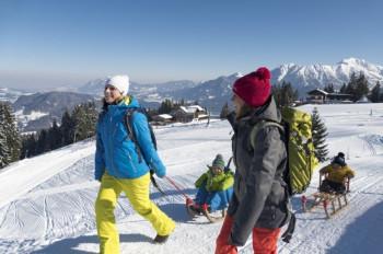 Am Ifen, Nebelhorn, Söllereck, Heuberg und Fellhorn erwarten dich mehr als 33 km Winterwanderwege.
