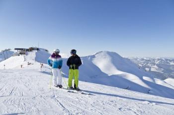 An der Bergstation der Kanzelwand startet die 4,3 km lange Talabfahrt.