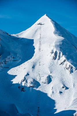 Nur für Profis auf den Skiern ist die eisige Gamsleiten-Abfahrt geeignet.