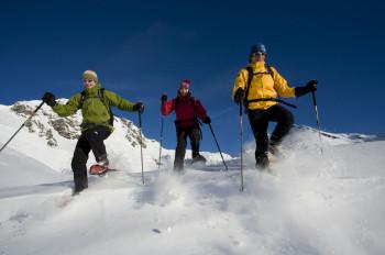 Schneeschuhwanderungen machen auch Nicht-Skifahrern Spaß.