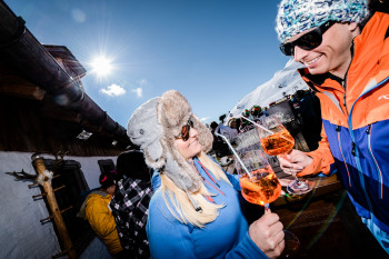 Über 25 Skihütten gibt es im Skigebiet.