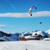 Snowkiten wird immer beliebter und ist auch in Obertauern möglich.