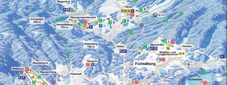 Pistenplan Skischaukel Oberwarmensteinach