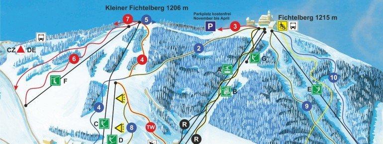 Pistenplan Oberwiesenthal Fichtelberg