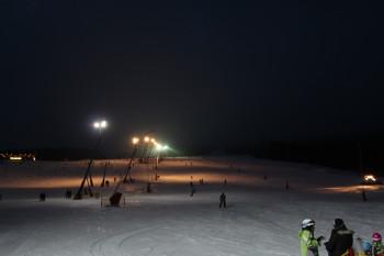 Beim Nachtskilauf ist der Lift von 17 bis 21 Uhr in Betrieb.