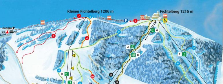 Pistenplan Fichtelberg Oberwiesenthal