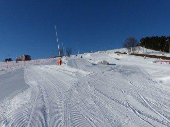 Der Snowpark des Skigebiets