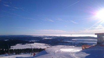 Die Bergstation am Fichtelberg liegt auf etwas 1215m