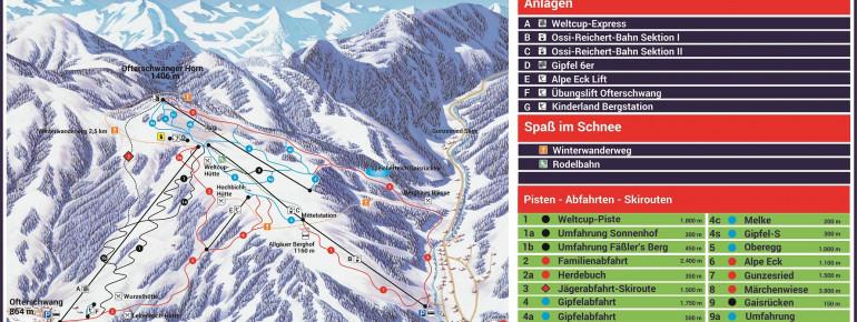 Pistenplan Ofterschwang - Gunzesried