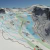 Pistenplan des Skigebiets Ohau Snow Fields.