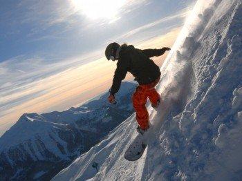 Auch für Snowboarder ist einiges geboten.