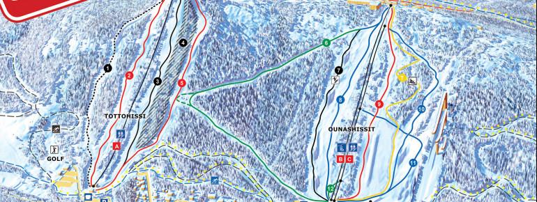 Pistenplan Ounasvaara