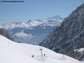Blick auf das Wallis. Eines der schönsten Täler der Alpen.