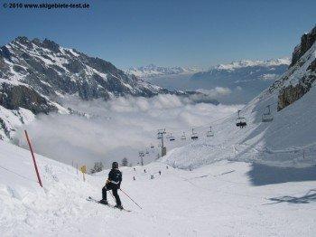 Ovronnaz bietet eines der schönsten Panoramen der Alpen.