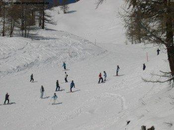 Familien wissen um die Vorzüge des Skigebietes in Ovronnaz.