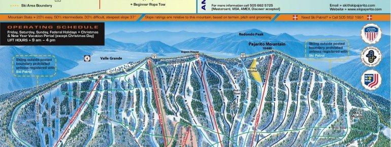 Pistenplan Pajarito Mountain