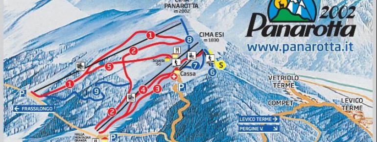 Pistenplan Panarotta 2002