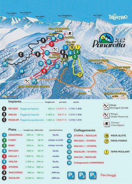 Skigebiet panarotta skiurlaub skifahren