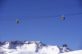 Der Vanoise Express verbindet die Skigebiete Les Arcs und La Plagne miteinander.