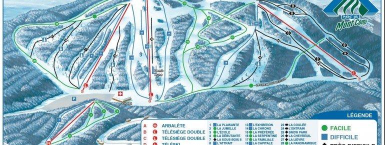 Pistenplan Parc du Mont Comi