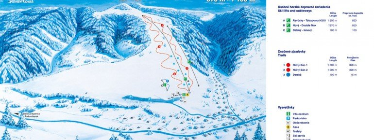 Pistenplan Park Snow Liptovske Revuce