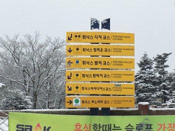 Schilder weisen den Wintersportlern den Weg.