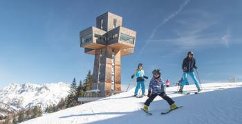 Das Wahrzeichen des Skigebiets auf der Buchensteinwand ist das beeindruckende Jakobskreuz.