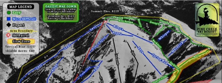 Pistenplan Pine Creek Ski Resort