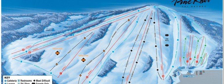 Pistenplan Pine Knob Ski Resort