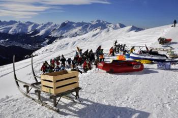 Pischa ist bekannt für zahlreiche alternative Wintersportarten.
