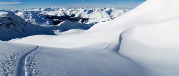Pischa ist der Ausgangspunkt verschiedener Skitouren.