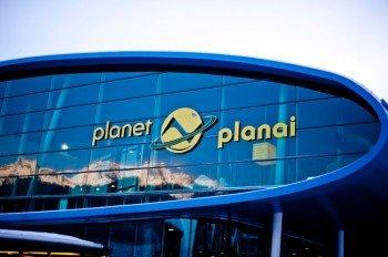"Die Talstation des ""Planets"" Planai."
