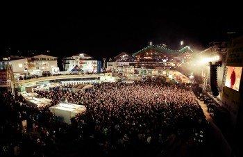 Tausende Musikfans kommen jedes Jahr zum Ski-Opening.