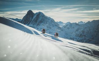 Skifahren mit wunderbarem Panorama