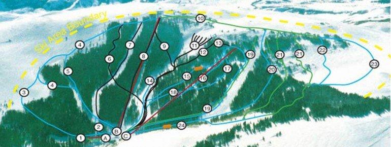 Pistenplan Pomerelle Ski Area