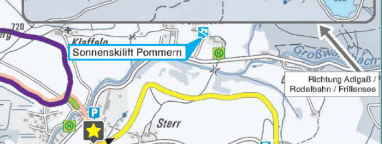 Pistenplan Pommernlift Inzell
