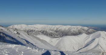 Toller Ausblick vom Skigebiet Porters!