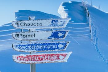 Schneemangel Fehlanzeige: Frau Holle lässt es in Portes du Soleil jedes Jahr kräftig schneien.