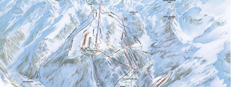 Pistenplan Pralognan la Vanoise