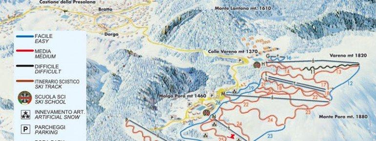 Pistenplan Presolana Monte Pora