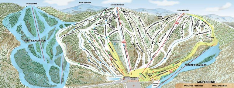 Pistenplan Ragged Mountain