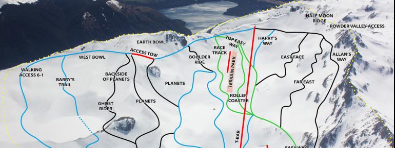 Pistenplan Rainbow Ski Area