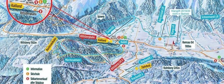 Pistenplan Rittisberg - Ramsau am Dachstein